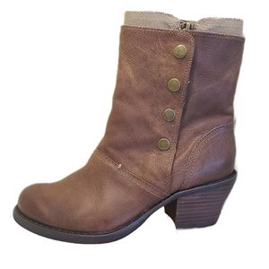 Luxury Rebel Beck Brown Leather/Canvas Bootie EU 36.5